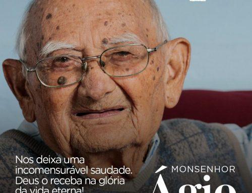 Notícia de falecimento de Ágio Augusto Moreira