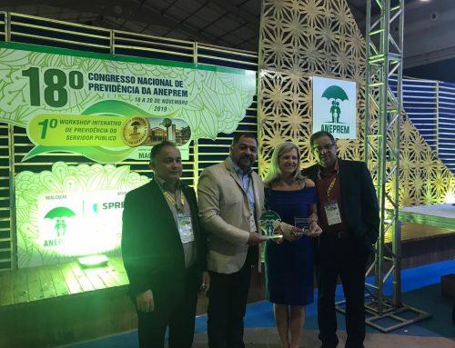 PREVICRATO é premiado em evento nacional por boas práticas de gestão